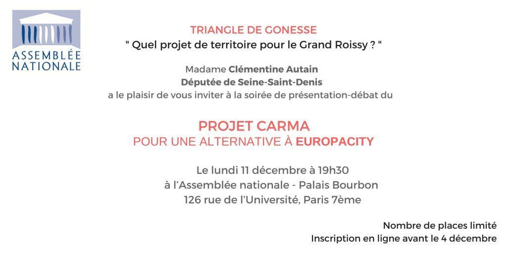 Soirée-débat lundi 11 décembre : Triangle de Gonesse