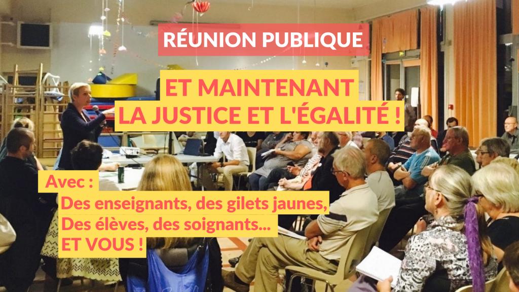 Et maintenant : la justice et l'égalité ! Meeting le 19 décembre à Villepinte