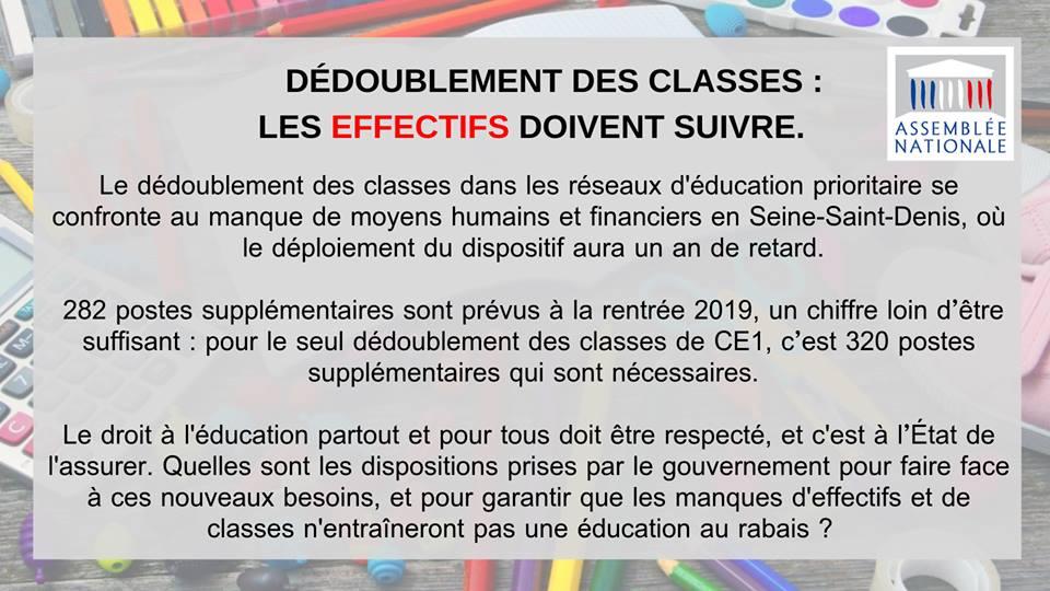 Dédoublement des classes : les effectifs doivent suivre